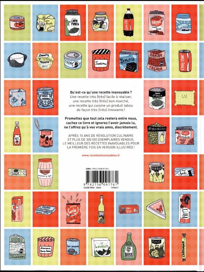 Verso de Les recettes inavouables illustrées