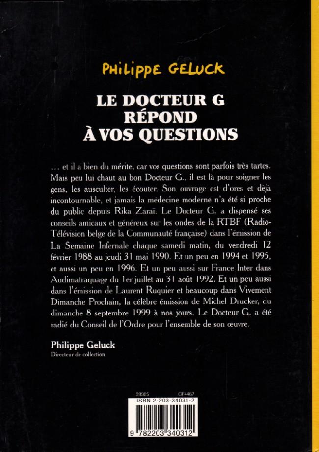 docteur g tome 2 docteur g fait le point