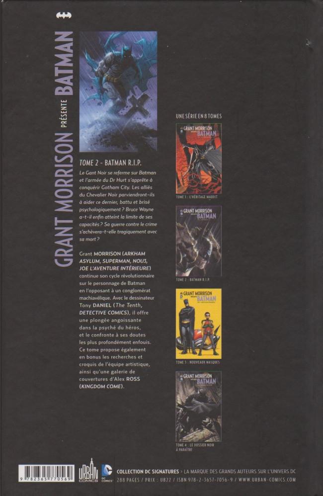 ... Verso de Batman (Grant Morrison présente) -2a12- Batman R.I.P. b62131abf85
